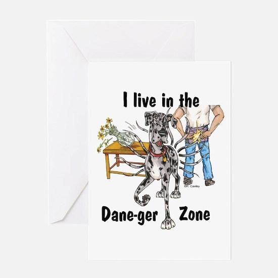 NMrl ILIT Dane-ger Zone Greeting Card