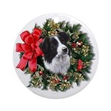 Border collie lover Round Ornaments