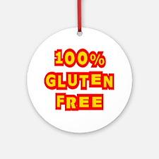 100% Gluten Free Ornament (Round)