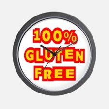 100% Gluten Free Wall Clock