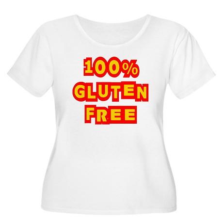 100% Gluten Free Women's Plus Size Scoop Neck T-Sh