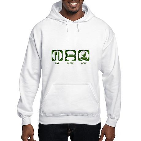 Eat Sleep Golf Hooded Sweatshirt