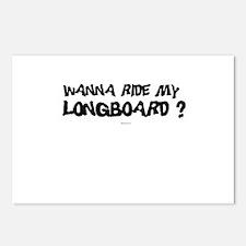 Wanna ride my longboard? ~  Postcards (Package of