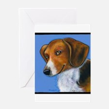 "Beagle ""Holly"" Greeting Card"