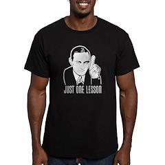 Henry Hazlitt Men's Fitted T-Shirt (dark)