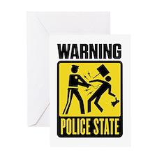 Warning: Police State Greeting Card