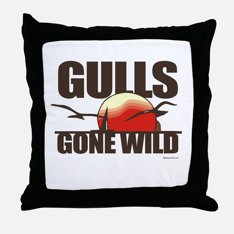 Gulls gone wild ~  Throw Pillow