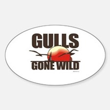 Gulls gone wild ~ Oval Decal