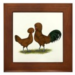 Polish Red Chickens Framed Tile