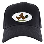 Polish Red Chickens Black Cap