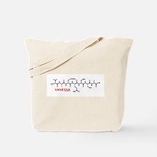 Vanessa name molecule Tote Bag