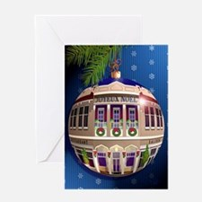 Un Ornement de Joyeux Noel/Bleu Greeting Card