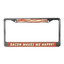 Bacon Makes Me Happy License Plate Frame