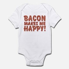 Bacon Makes Me Happy Infant Bodysuit