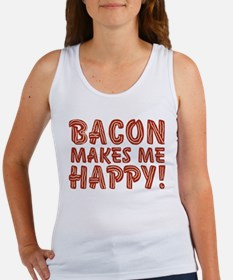 Bacon Makes Me Happy Women's Tank Top