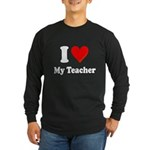 I Heart My Teacher: Long Sleeve Dark T-Shirt