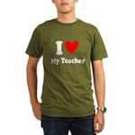 I Heart My Teacher: Organic Men's T-Shirt (dark)