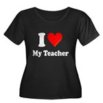 I Heart My Teacher: Women's Plus Size Scoop Neck D