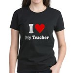I Heart My Teacher: Women's Dark T-Shirt