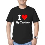 I Heart My Teacher: Men's Fitted T-Shirt (dark)