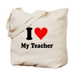 I Heart My Teacher: Tote Bag