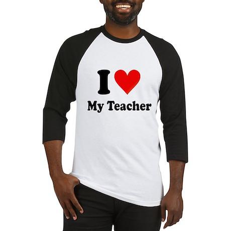 I Heart My Teacher: Baseball Jersey