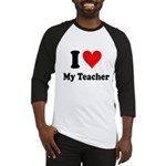 I Heart My Teacher: Baseball Jersey