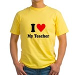 I Heart My Teacher: Yellow T-Shirt