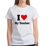 I Heart My Teacher: Women's T-Shirt