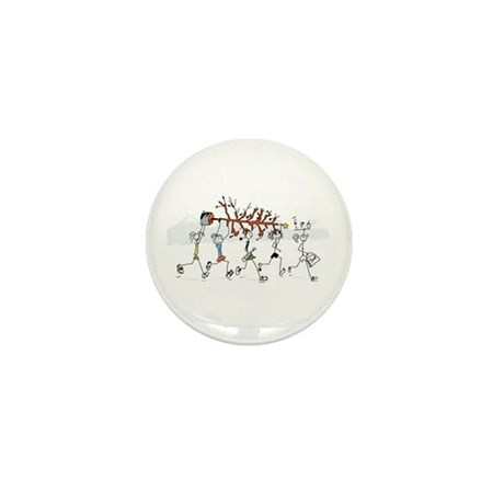 Christmas Runners Mini Button (10 pack)