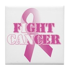 I can fight cancer pink rs Tile Coaster