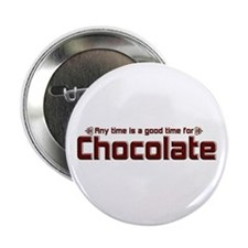 "Any Time Chocolate 2.25"" Button"