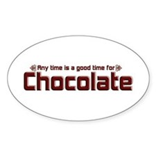 Any Time Chocolate Oval Decal