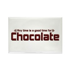 Any Time Chocolate Rectangle Magnet