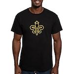 Fleur de Halo Men's Fitted T-Shirt (dark)