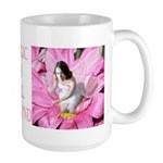 Pink Flower Fairy Large Mug