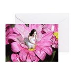 Pink Flower Fairy Greeting Cards (Pk of 10)