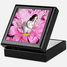 Pink Flower Fairy Keepsake Box