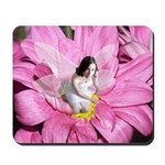 Pink Flower Fairy Mousepad