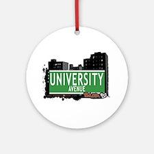 University Av, Bronx, NYC Ornament (Round)