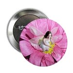 Pink Flower Fairy Button
