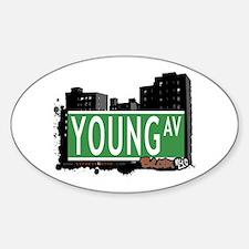 Young Av, Bronx, NYC Oval Decal