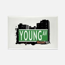 Young Av, Bronx, NYC Rectangle Magnet