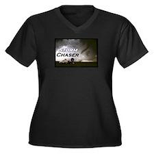 Storm Chaser Women's Plus Size V-Neck Dark T-Shirt