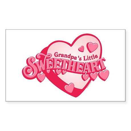 Grandpa's Sweetheart Rectangle Sticker