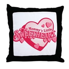Mommy's Sweetheart Throw Pillow