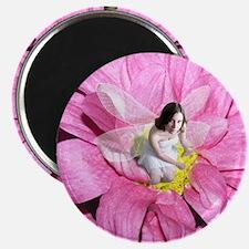 Pink Flower Fairy Magnet