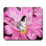 Pink Flower Fairy Mousepad