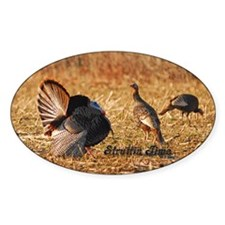 Struttin Turkey Oval Bumper Stickers