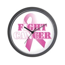 I can fight cancer pink rs Wall Clock